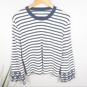 Madewell Eyelet Embroidered Tier Bell Sleeve Top